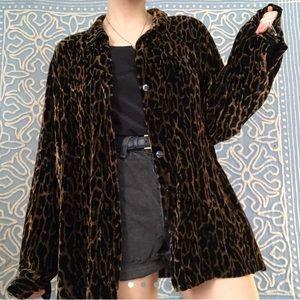 Velvet Leopard Overshirt